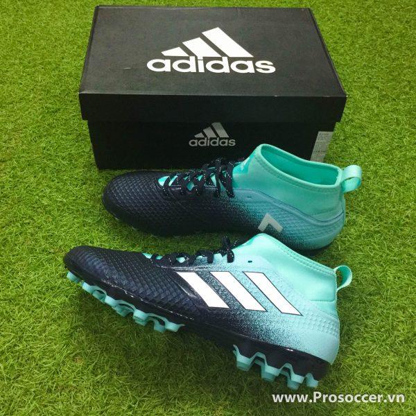 Giay chinh hang Adidas ACE 17 3 mau den xanh nhat dinh AG san co nhan tao (2)