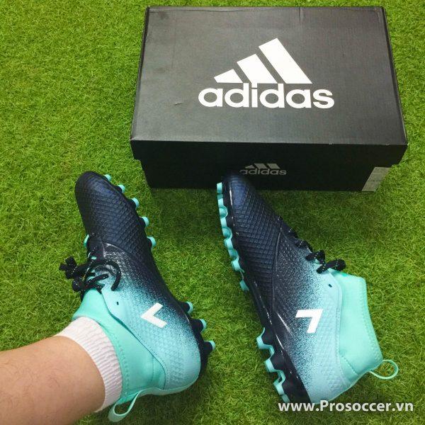 Giay chinh hang Adidas ACE 17 3 mau den xanh nhat dinh AG san co nhan tao (4)