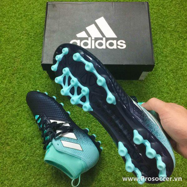 Giay chinh hang Adidas ACE 17 3 mau den xanh nhat dinh AG san co nhan tao (6)