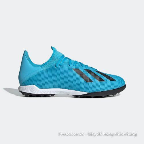 Giay bong da Adidas X19.3 TF xanh nhat vach den (2)