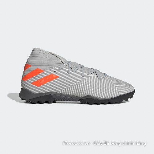 Giày đá bóng Adidas Nemeziz 19.3 TF xám vạch cam ENCRYPTION