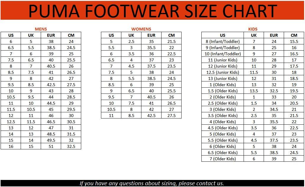 Bảng quy đổi size giày đá banh Puma chính hãng chuẩn nhất