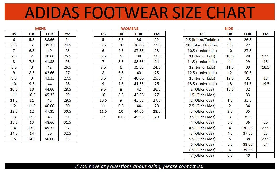 Bảng quy đổi size giày đá bóng Adidas chính xác nhất