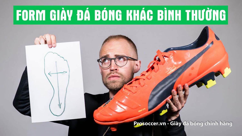 Nên áp dụng nhiều cách để chọn size giày đá bóng chính hãng
