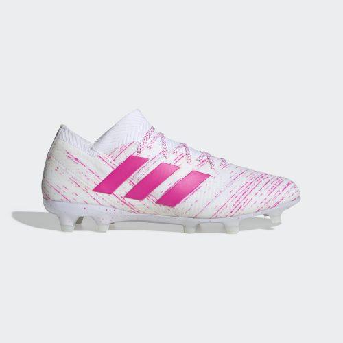 Giay da bong Adidas Nemeziz 18.1 FG mau trang hong chinh hang (2)