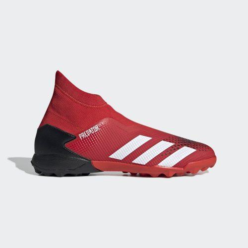 Giay da bong Adidas khong day Adidas Preadtor 20.3 TF LL mau do vach trang (2)