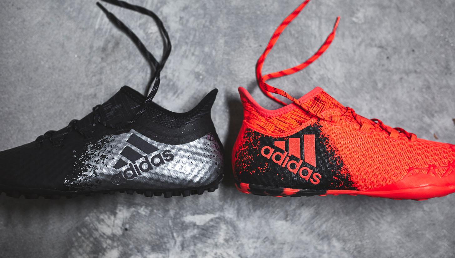 Giày đá bóng sân cỏ nhân tạo hỗ trợ sút bóng tốt thường có form giày thon gọn mũi thuôn xuống