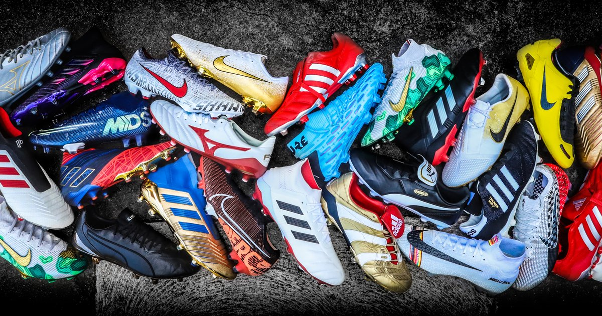 Các cầu thủ chuyên nghiệp thường sử dụng rất nhiều mẫu giày bóng đá với các thương hiệu khác nhau