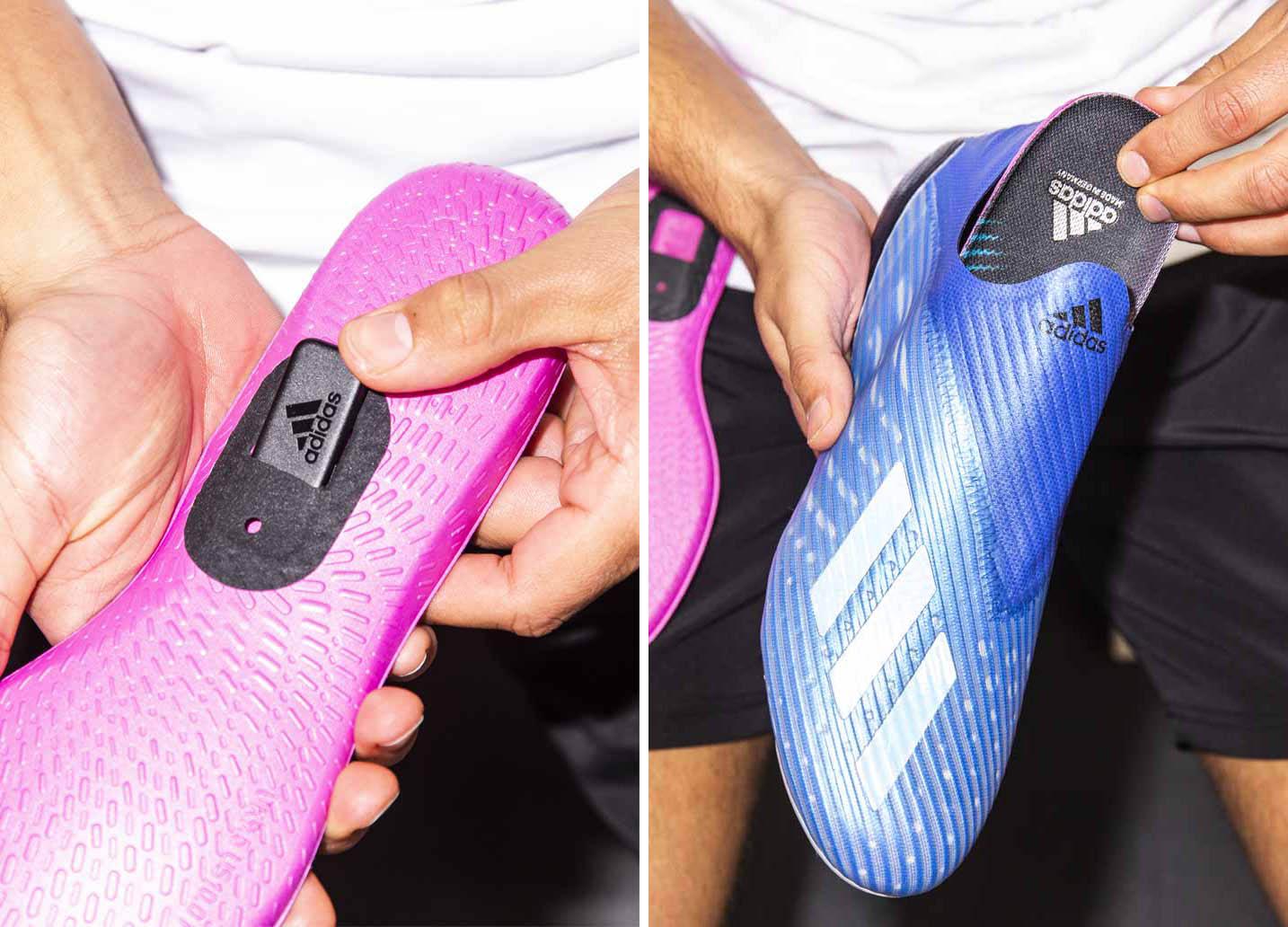 Gắn chip GMR vào lót giày bóng đá Adidas