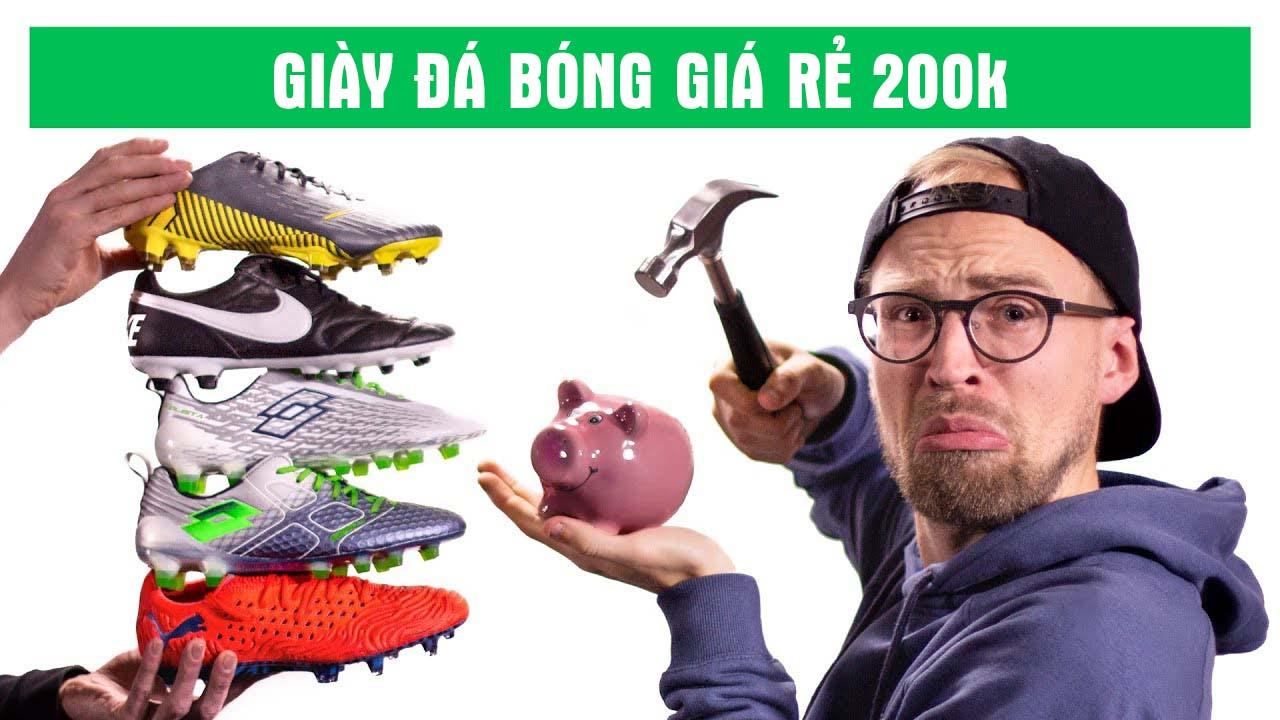 Giày đá bóng chính hãng giá rẻ có rất nhiều thương hiệu với giá từ 200-600k