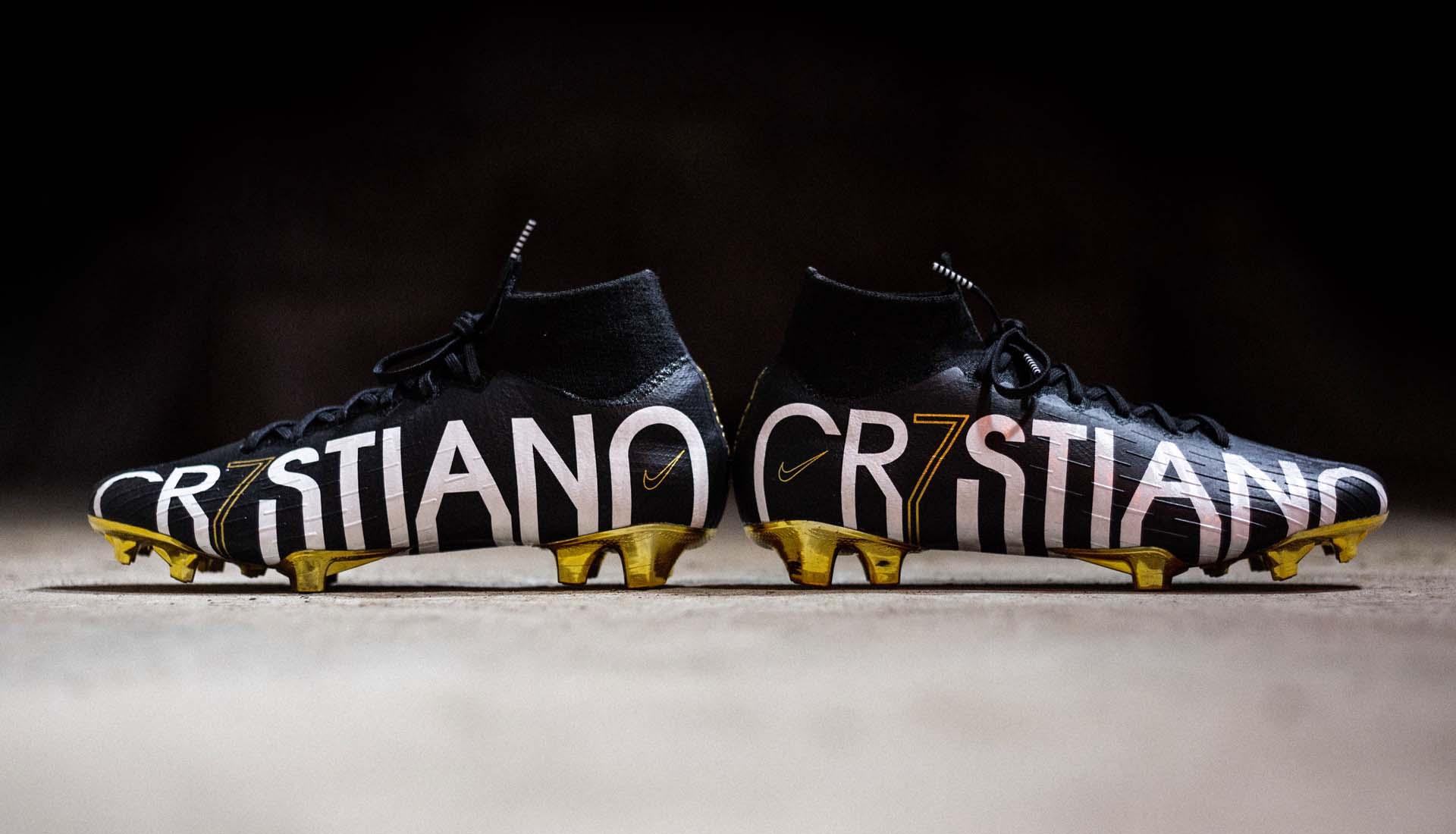 Giày đá bóng Nike chính hãng CR7 SE màu đen cực kỳ đẹp mắt của Ronaldo