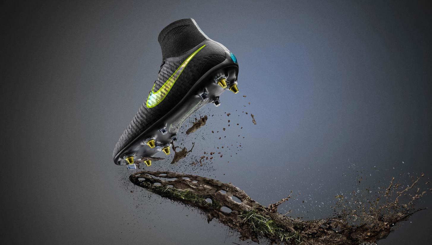 Công nghệ giúp giày bóng đá chống bám bùn đất Anti-Clog