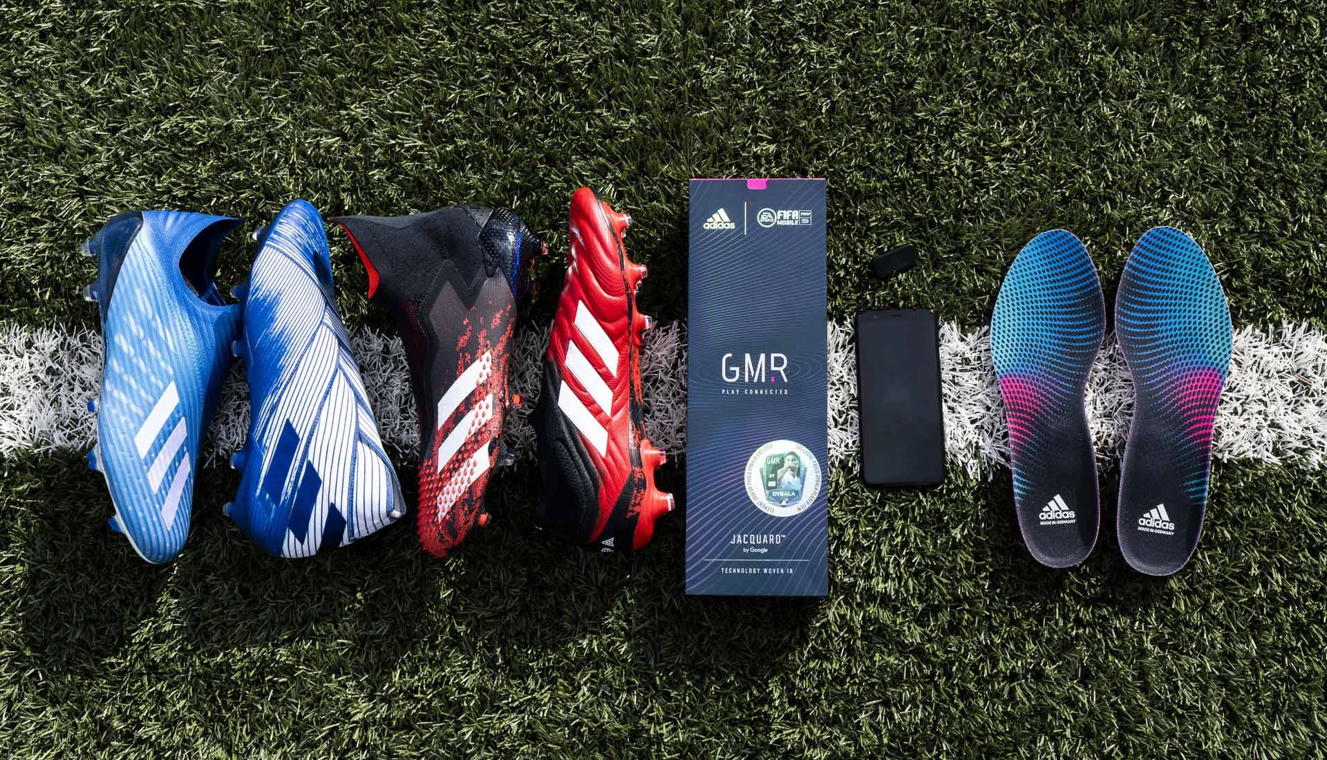 Giày đá bóng Adidas được gắn chip GMR để đo lường các chỉ số bóng đá
