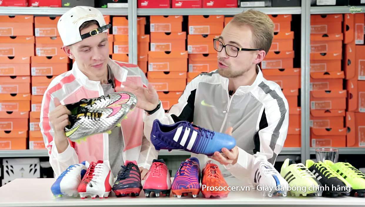 Chọn mua giày đá bóng chính hãng sẽ cần chú ý về nhiều yếu tố khác nhau