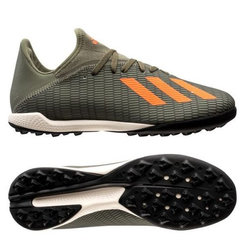 Adidas X 19.3 TF Encryption - Legion GreenSolar OrangeCore White (1)