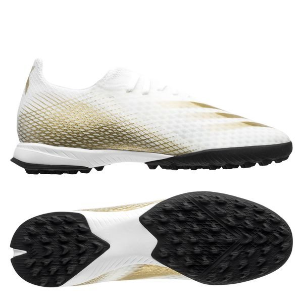 Adidas X Ghosted .3 TF Inflight - Footwear WhiteMetallic GoldCore Black (1)