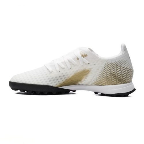 Adidas X Ghosted .3 TF Inflight - Footwear WhiteMetallic GoldCore Black (8)