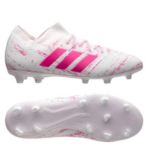Adidas nemeziz 18.1 fg hong trang da vai chinh hang (1)