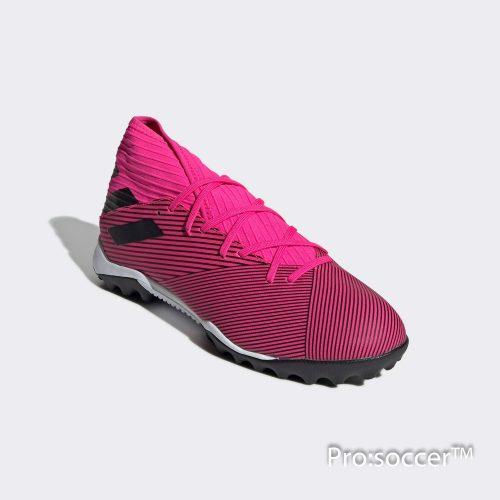 Giay da banh chinh hang adidas nemeziz 19.3 tf hong den (5)