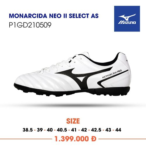 Mizuno Monarcida Neo 2 select as trang vach den