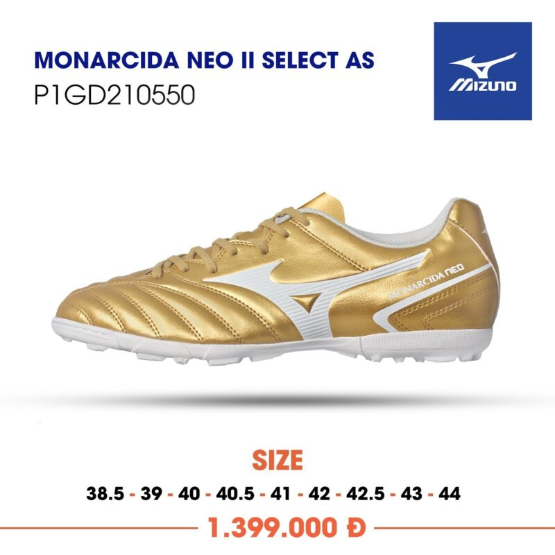 Mizuno Monarcida Neo 2 select as vang vach trang