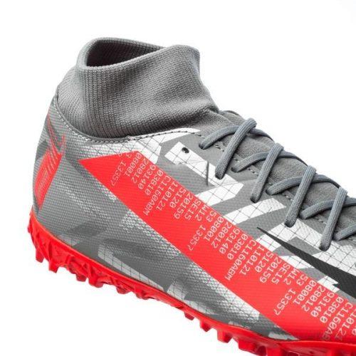 Nike Mercurial Superfly 7 Academy TF Neighbourhood - Metallic Bomber GreyBlackParticle Grey (4)