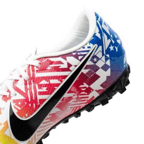 Nike Mercurial Vapor 13 Academy TF NJR Jogo Prismatico - WhiteBlackRacer BlueVolt (5)