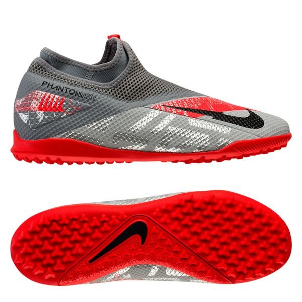 Nike Phantom Vision 2 Academy DF TF Neighbourhood - Metallic Bomber GreyBlackParticle Grey (1)